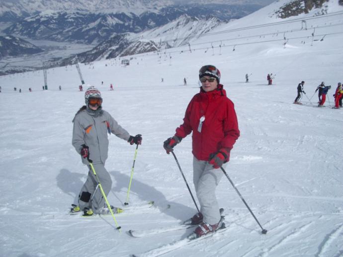 Simona Cavalu la ski